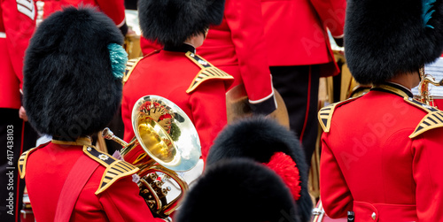 Obraz na plátně Trooping the Colour, military ceremony at Horse Guards Parade, Westminster