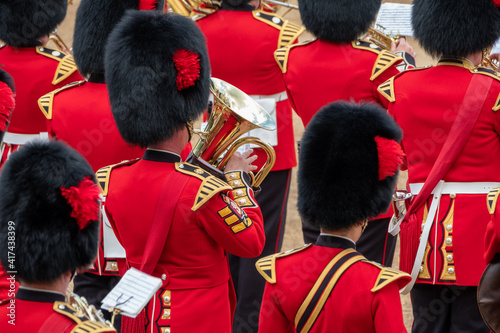 Canvas Trooping the Colour, military ceremony at Horse Guards Parade, Westminster
