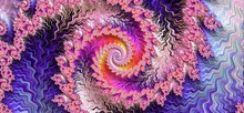 Pink And Purple Fractal