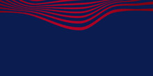Dark Red Lines Particles Background With Red Wavy Shapes On Blue Background