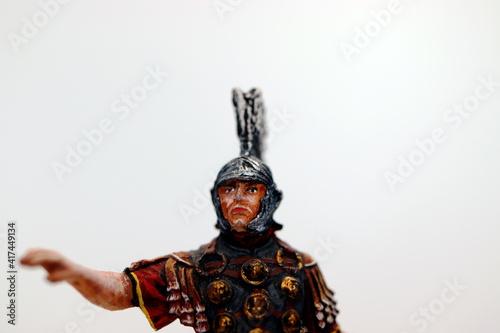 Fotografie, Obraz roman centurion miniature warrior figure