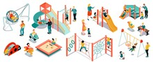 Isometric Playground Icon Set