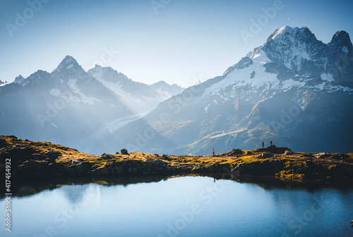 Great Mont Blanc glacier with Lac Blanc Fototapeta