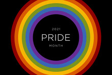 Gay Pride Month 2021 In June. LGBTQ Multicolored Rainbow Flag. Original Color Symbol Of Gay Pride Concept Background, High Resolution Poster