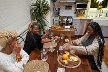 Black Women Creating DIY Cocktails, Friendship Connections
