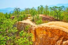 Adobe Cliffs Of Pai Canyon, Thailand