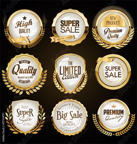 Fototapety, obrazy: set of labels