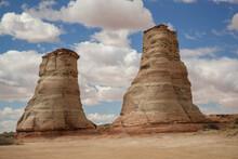 USA, Arizona, Navajo Indian Reservation. Elephant Feet Rock Formation.