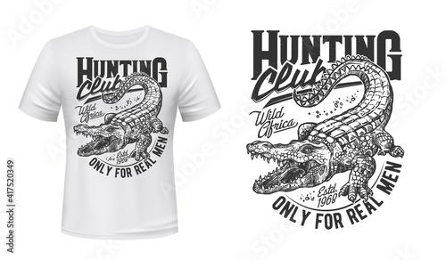 Foto Crocodile or alligator t-shirt vector print