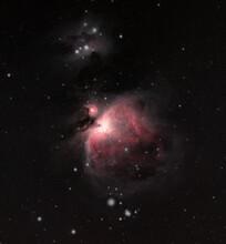 The Great Orion Nebula And Running Man Nebula