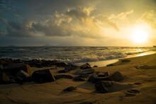 Hoi An Beach At Sunset In Da Nang