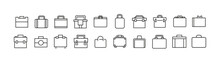 Vector Set Of Briefcase Thin Line Icons.