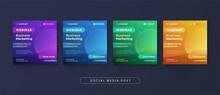 Business Marketing Webinar Social Media Post Template