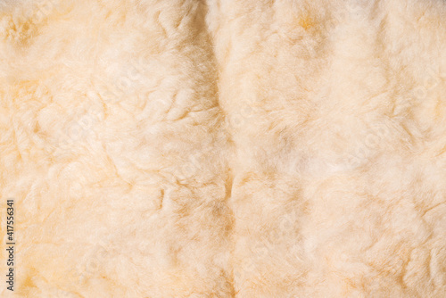 Fotografie, Obraz Close up photo of white wool cloth texture.