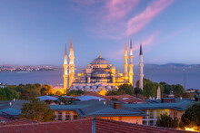 The Sultanahmet Mosque (Blue Mosque) In Istanbul