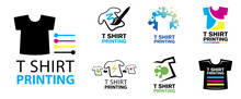 Vector Printing House Logo, Printing On T-shirts