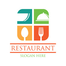 Restaurant Logo With Text Space For Your Slogan Tag Line, Vector Illustration