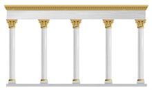 Golden Arch Portal Baroque Marble Gold Arcade