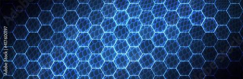 Fotografiet Hexagon background