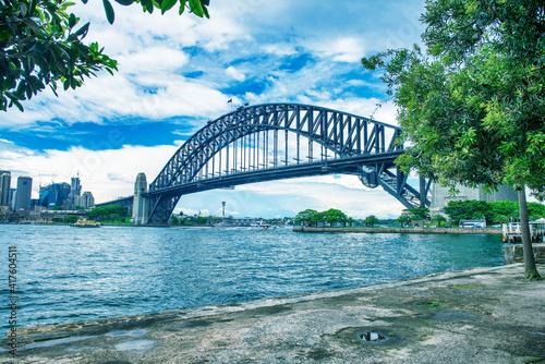 SYDNEY - NOVEMBER 2015: Sydney Harbour Bridge on a beautiful sunny day © jovannig
