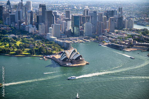 Amazing aerial view of Sydney skyline on a sunny day, Australia © jovannig