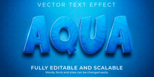 Aqua Water Text Effect, Editable Blue And Liquid Text Style
