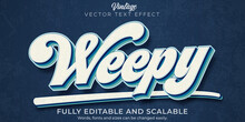 Retro, Vintage Text Effect, Editable 70s And 80s Text Style.