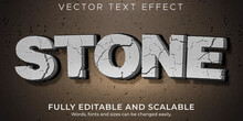 Crack Stone Text Effect, Editable Rock And Cracked Text Style