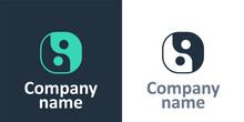 Logotype Yin Yang Symbol Of Harmony And Balance Icon Isolated On White Background. Logo Design Template Element. Vector.