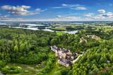 Kaszubski Park Krajobrazowy. ruiny zamku w Łapalicach