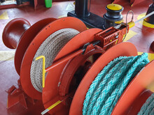 Mooring Winch On A Forward Of The Vessel
