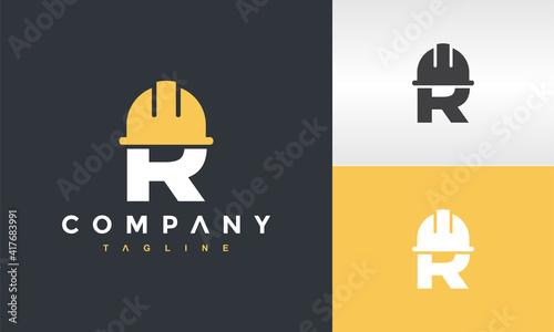 Obraz initials R cap construction logo - fototapety do salonu