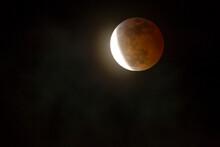 USA, California, San Luis Obispo County. Full Blood Moon Lunar Eclipse.