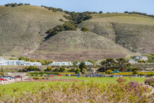 Dinosaur Caves Park, Playground And Walking Trail, Grassy Lawn, Green Hills, And Ocean View. Park Is The City's Most Used Event Facility.