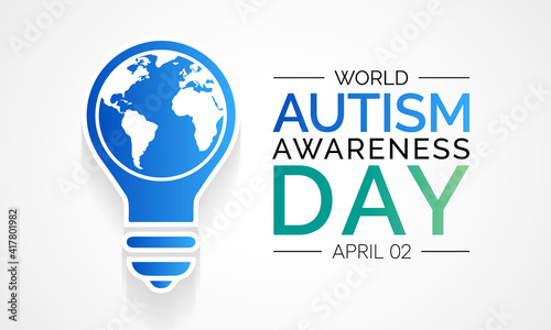 Photo Vector illustration on the theme of World Autism awareness day observed each year on April 2nd across the globe