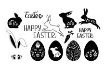 Set Of Easter Elements Vector Illustration