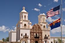 Old Spanish San Xavier Mission , Arizona, USA