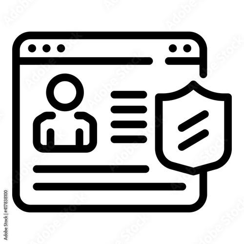 Fotografie, Tablou Profile privacy icon
