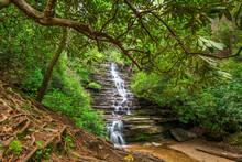 Panther Falls In Rabun County, Georgia
