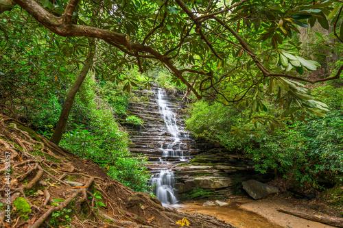 Canvas Print Panther Falls in Rabun County, Georgia
