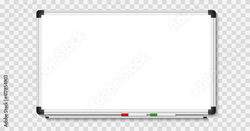 Stampa su Tela Empty white marker board on transparent background