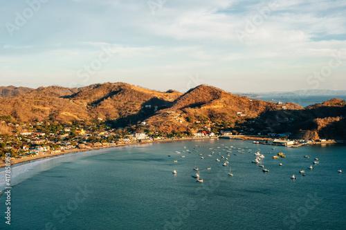 Fotografie, Obraz Colorfull panoramic view of bay san juan del sur, nicaragua