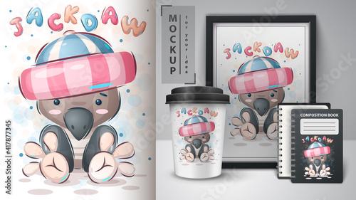 Fototapeta premium Cute bird - poster and merchandising.