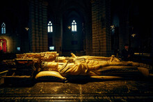 The Tomb Of Carlos III The Noble And Eleanor Of Castile In The Cathedral Of Pamplona