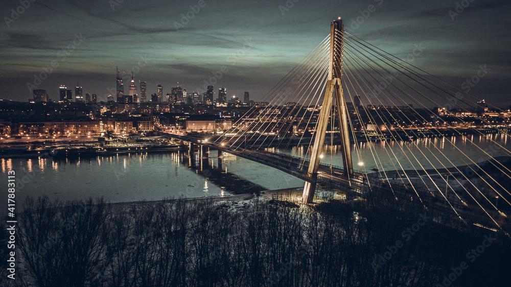 Fototapeta Poland Warsaw in winter