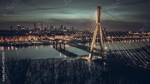 Fototapeta Poland Warsaw in winter obraz