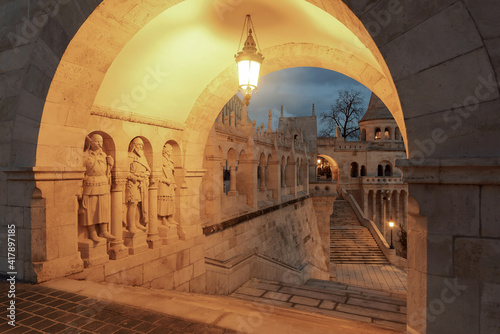 Fotografie, Obraz Fishermans bastion in Budapest hungary