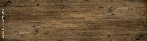 Obraz old brown rustic dark wooden texture - wood timber background panorama long banner	  - fototapety do salonu