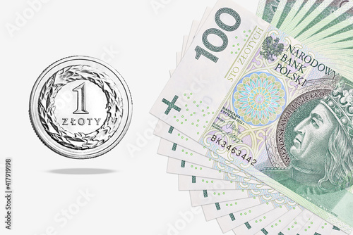 Fototapeta Polish money. obraz