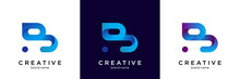 B Logo Blue. B Letter Icon Design Vector